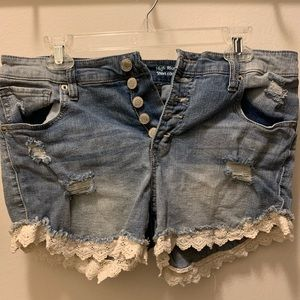 Mossimo Jean Lace Shorts 14 / 32 Target